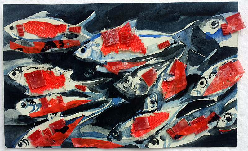 Lee Lee painting of Alewives