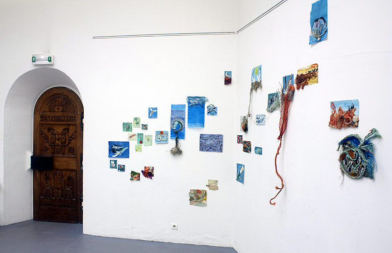 .debris. gallery installation at the Chateau de la Napoule