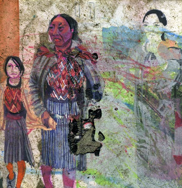 Mixed media artwork from Guatemala by Lee Lee