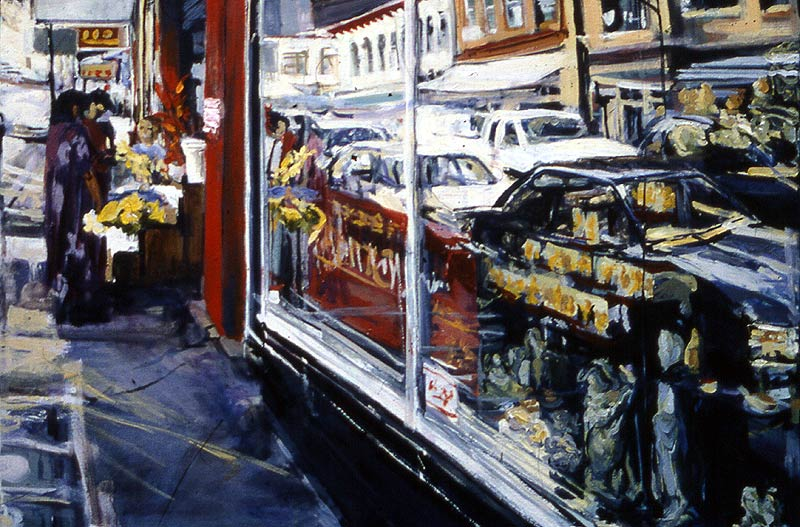 Chinatown Honolulu - oil painting by Lee Lee