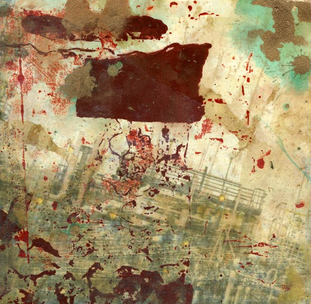 refinery: mixed media painting by Lee Lee