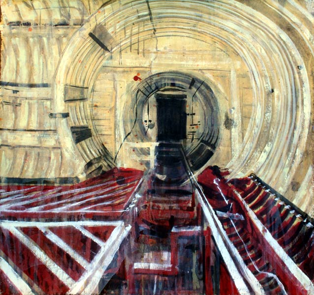 Acrylic painting of a Titan missile silo by Lee Lee